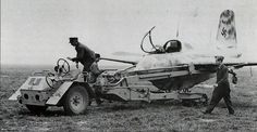 Me 163 / Komet attached to a Scheuchsclepper tractor