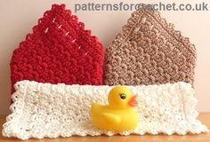 Free washcloth crochet pattern from http://www.patternsforcrochet.co.uk/washcloth-usa.html #freecrochetpatterns #patternsforcrochet
