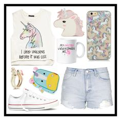 #334 unicorns by xjet1998x on Polyvore featuring polyvore, fashion, style, Forever 21, Topshop, Converse, Skinnydip, Kate Spade, Skip Hop and clothing