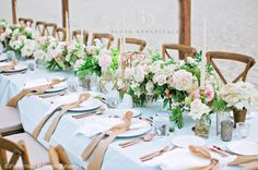 Beautiful beach wedding featuring a palette of blue, blush, fresh green gold and rose gold.  Event and floral design by Blush Botanicals.  Wedding at the Hotel Del Coronado.