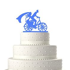 Sugar Yeti Made In USA Wedding Cake Topper Groom and Bride Cycling 39 Light Blue ** Continue to the product at the image link. (Note:Amazon affiliate link)