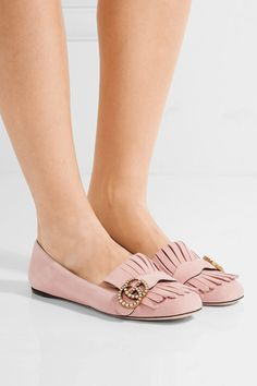 Slight heel Pastel-pink suede Slip on Made in Italy