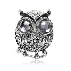 Shop for Owl Scarf Clip Rings, OKA Jewelry Vintage Owl Scarf Rings Silver is perfect for your owl jewelry collection. Owl Scarf, Scarf Rings, Vintage Owl, How To Wear Scarves, Scarf Styles, Bracelet Watch, Silver Rings, Skull, Fancy