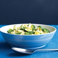 Combine sweet corn -- fresh off the cob -- with zucchini, garlic, and basil for a colorful, healthy side dish.