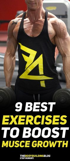 Check out The 9 Best Exercises to Boost Muscle Growth! #fitness #gym #muscle #bodybuilding #workout #exercise