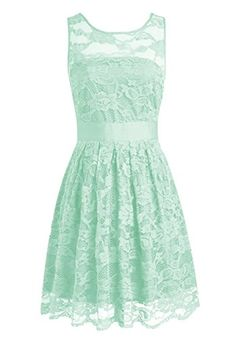 Olidress Women s Short Sleeveless Lace Bridesmaid Dress Prom Dress Mint US8  Olidress http    47b988dc8345