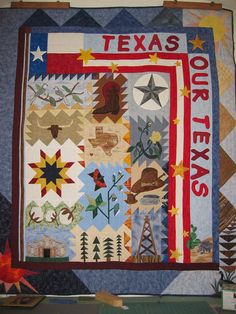 Texas Our Texas Quilt Kit by LouAnnsSewingBasket on Etsy, $279.00