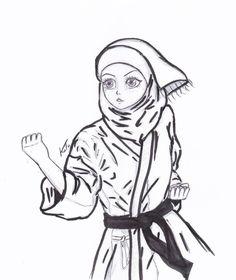 girl karate by Mangaiq on DeviantArt Taekwondo Fight, Karate Girl, Like A Lion, Girly Drawings, Cartoon Art Styles, Wallpaper Backgrounds, Martial Arts, Art Quotes, Character Design