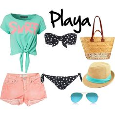 """beach outfit"" by onlyfashionblog on Polyvore"