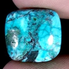 OLD TIBET!~10.30CT. 100% NATURAL TIBET TURQUOISE CUSHION CABOCHON GEMSTONE #Jaipurgems2016