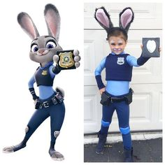 Ever since Zootopia hit theaters, kids have been obsessed with the lovable Nick Wilde and Judy Hopps. Check out these Zootopia Halloween costumes your kids will be thrilled to rock while trick-or-treating. Halloween Mignon, Fete Halloween, Halloween Party Supplies, Family Halloween, Scary Halloween, Zootopia Halloween Costumes, Toddler Halloween Costumes, Cute Kid Costumes, Disney Costumes For Kids