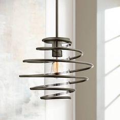 """Vansbro Collection 14 1/2"""" Wide Black Mini Pendant Light - #Y2316   Lamps Plus"""