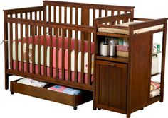 Convertible Crib And Changing Table Combo I Like This Simple Yet Cly