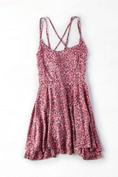 AEO+Women's+Dont+Ask+Why+Strappy+Flounce+Dress