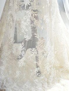 Luxury Embroidery Beading Lace Fabric bridal Beaded Lace