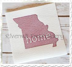 $2.95Sketch Style Missouri Home Machine Embroidery Design