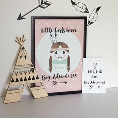 Poster 'Little Girls have big adventures' 21 X 29,7 cm A4