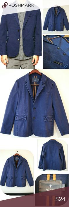 Men's Hawkings Mcgill Navy Jacket This jacket was only worn once. Really nice jacket. In great condition. Bought from Urban Outfitters store. Brand is Hawkings Mcgill. Navy color. Size Medium (Men's). The jacket has two front pockets and is made with nice and thick material. Make me an offer! Hawkings Mcgill Jackets & Coats