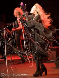 And the wind became ... crazy.  Stevie Nicks: this could have been the night at the Gorge during the electric storm.