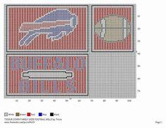 BUFFALO BILLS Plastic Canvas Box Patterns, Plastic Canvas Coasters, Plastic Canvas Tissue Boxes, Plastic Canvas Crafts, Crochet Blanket Patterns, Cross Stitch Patterns, Football Canvas, Football Team, Nfl Team Colors