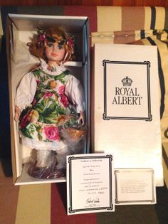 "New Royal Albert ""Rose"" Doll - The Old Country Roses- COA -Collectible Porcelain picclick.com"