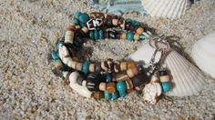 Turquoise Boho Bracelet by BeadDazzlers on Etsy, $26.00