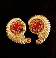 Original 1970  Earrings beautiful color and shape by RAKcreations