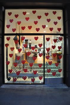 Flashback // Our old COMME play window at FABRIC downtown Advent Calendar, Windows, Play, Holiday Decor, Fabric, Home Decor, Tejido, Window, Fabrics
