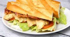 Caesar szendvics recept | APRÓSÉF.HU - receptek képekkel Hamburger, Bacon, Salads, Sandwiches, Food And Drink, Pizza, Snacks, Dinner, Cooking