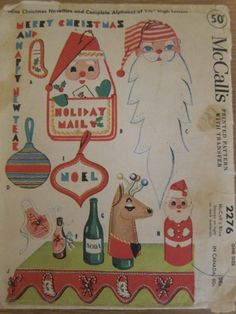 Vintage Christmas Sewing Patterns (Plus a Chinese Christmas Dinner) – Quilter's Bug Christmas Style, Chinese Christmas, 1950s Christmas, Vintage Christmas Cards, Christmas Images, Vintage Holiday, Felt Christmas, Christmas Crafts, Christmas Decorations