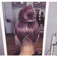 Purple hair shaved section!