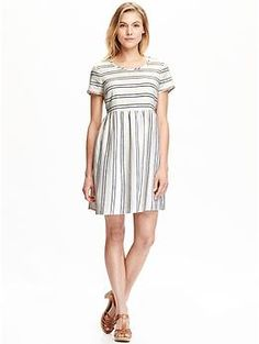 Women's Striped Linen-Blend Dresses | Old Navy