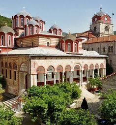 Esphigmenou Monastery, Mount Athos, Greece | by Lothar A. Hoppen Church Architecture, Beautiful Architecture, The Holy Mountain, Macedonia Greece, Amazing Places On Earth, Visit Turkey, Christian World, Exotic Beaches, Byzantine Icons