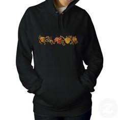 Fall Leaf Filigree Embroidered Hoodies