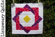 Hippy Square Quilt from Lisnaweary Quilts. Free pattern /tute included.