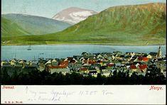 Troms fylke Tromsø  Kolorert Fargekort. Oversikt fra stedet. Utg G.K.A. ubrukt 1905