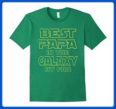aab33d13c Mens BEST PAPA IN THE GALAXY FUN RETRO DAD GRANDPA T-SHIRT XL Kelly Green -  Relatives and family shirts (*Amazon Partner-Link)