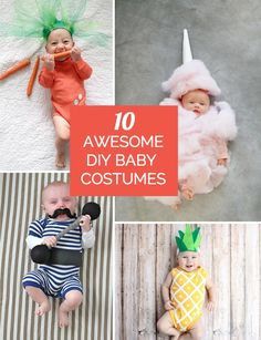 Awesome and adorable handmade DIY costumes for baby's first Halloween!