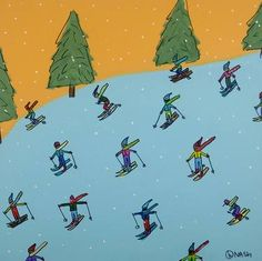 "Saatchi Art Artist brian nash; Painting, ""skiing"" #art"