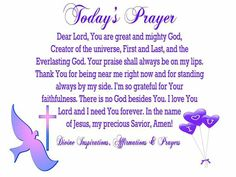 11.19/2016 Creator Of The Universe, The Creator, Power Of Prayer, Today's Prayer, Prayer For Today, Grateful For You, Dear Lord, Prayers, Faith