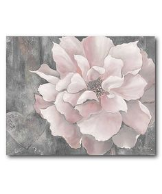 Pink & Gray Magnolia Gallery-Wrapped Canvas