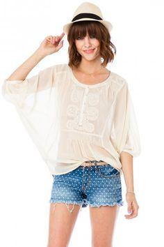 Polka Dot Cut-Off Shorts