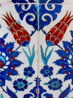 Rustem Pasa Mosque Tile, Istanbul Turkish Art, Turkish Tiles, Islamic Tiles, Islamic Art, Tile Art, Mosaic Tiles, Middle East Culture, Tile Patterns, Art And Architecture