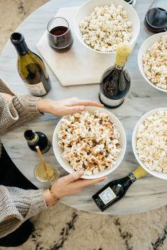Girls night in popcorn & wine pairing