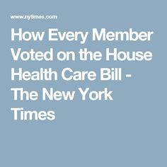 Thank you, New York Times!  This is what I've been waiting for!  America needs to know who voted against their own constituents.