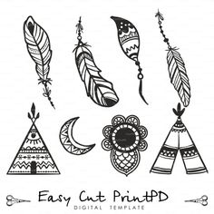 Amazing feathers plume eps svg dxf ai jpg png от EasyCutPrintPD