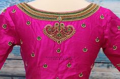 Pink Saree Blouse, Saree Blouse Designs, Baby Girl Birthday Dress, Hand Work Blouse Design, Saree Models, Beautiful Blouses, Boho Outfits, Aari Embroidery, Embroidery Works