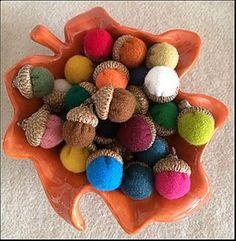 Make Up a Bowlful of Wool Acorns!