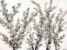 Felicia Aroney - First Light #Painting #FeliciaAroney #Art #FineArt #ArtWork #ArtGallery #homedecor #floralpainting #PinkPainting