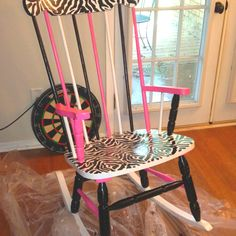 Finally painted a rocking chair for my classroom!